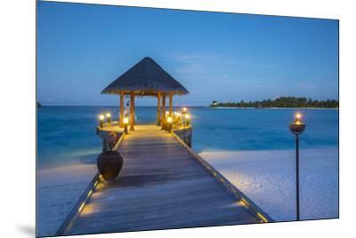 Jetty on the Anantara Dhigu resort, South Male Atoll, Maldives-Jon Arnold-Mounted Photographic Print