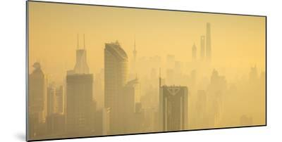 Skyline of Shanghai from Jing'An on a foggy November morning, China-Jon Arnold-Mounted Photographic Print