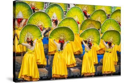 Participants perfrom at Dinagyang Festival, Iloilo City, Western Visayas, Philippines-Jason Langley-Stretched Canvas Print