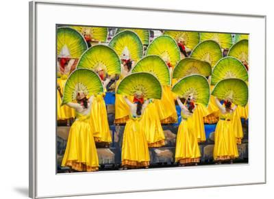 Participants perfrom at Dinagyang Festival, Iloilo City, Western Visayas, Philippines-Jason Langley-Framed Photographic Print