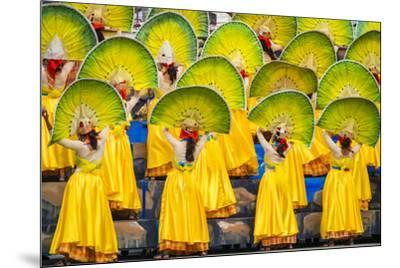 Participants perfrom at Dinagyang Festival, Iloilo City, Western Visayas, Philippines-Jason Langley-Mounted Photographic Print