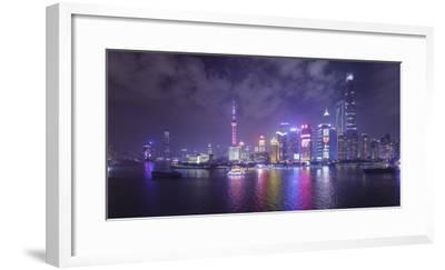Skyline of Pudong from The Bund, Shanghai, China-Jon Arnold-Framed Photographic Print