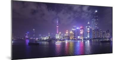 Skyline of Pudong from The Bund, Shanghai, China-Jon Arnold-Mounted Photographic Print