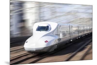 Shinkansen bullet train, Kyoto station, Kyoto prefecture, Japan-Jan Christopher Becke-Mounted Photographic Print
