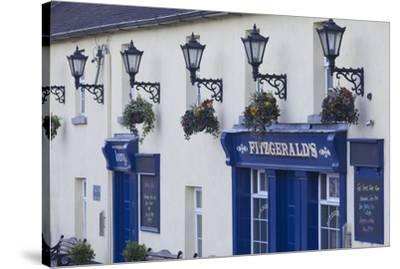 Ireland, County Wicklow, Avoca, Fitzgerald's Pub, played leading role in TV series, Ballykissangel-Walter Bibikw-Stretched Canvas Print