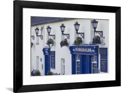 Ireland, County Wicklow, Avoca, Fitzgerald's Pub, played leading role in TV series, Ballykissangel-Walter Bibikw-Framed Photographic Print