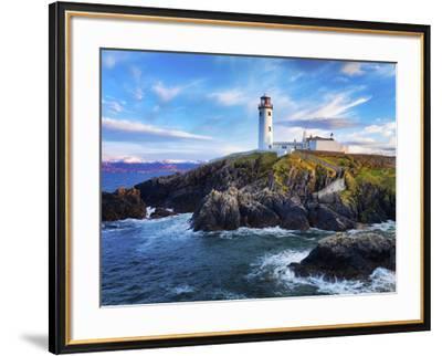 Ireland, Co.Donegal, Fanad, Fanad lighthouse at dusk-Shaun Egan-Framed Photographic Print