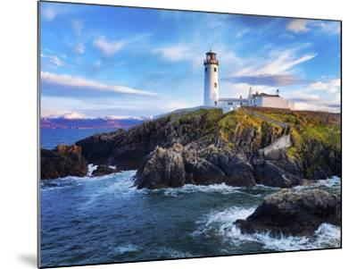 Ireland, Co.Donegal, Fanad, Fanad lighthouse at dusk-Shaun Egan-Mounted Photographic Print