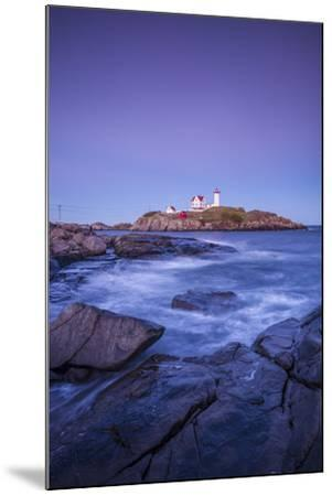 USA, Maine, York, Nubble Light Lighthouse, dusk-Walter Bibikw-Mounted Photographic Print