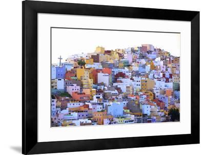 Colourful Buildings in the San Juan District, Las Palmas de Gran Canaria, Gran Canaria, Canary Isla-Neil Farrin-Framed Photographic Print