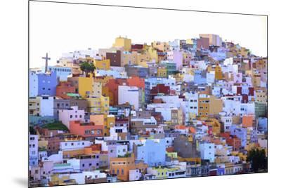 Colourful Buildings in the San Juan District, Las Palmas de Gran Canaria, Gran Canaria, Canary Isla-Neil Farrin-Mounted Photographic Print