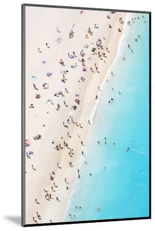 Aerial view of beach in summer with people. Zakynthos, Greek Islands, Greece-Matteo Colombo-Mounted Photographic Print