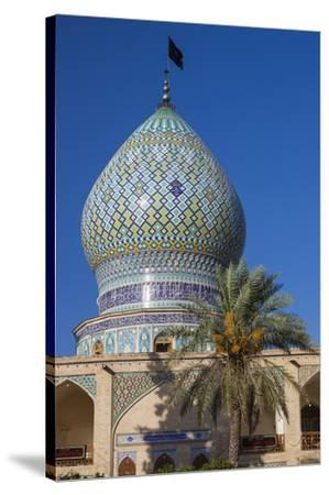 Iran, Central Iran, Shiraz, Imamzadeh-ye Ali Ebn-e Hamze, 19th century tomb of Emir Ali, dome-Walter Bibikw-Stretched Canvas Print