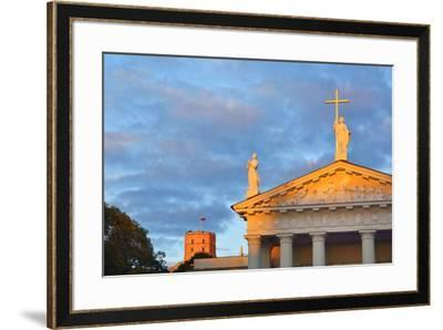 The Catholic Cathedral  and Gediminas's Tower of the Upper Castle. A Unesco World Heritage Site, Vi-Mauricio Abreu-Framed Photographic Print