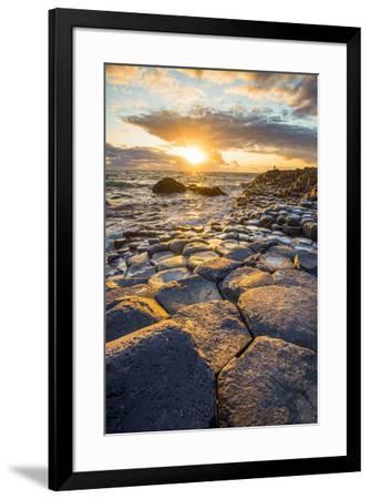 Giant's Causeway, County Antrim,  Ulster region, northern Ireland, United Kingdom. Iconic basalt co-Marco Bottigelli-Framed Photographic Print