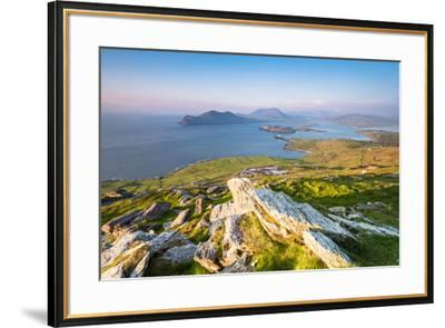 Valentia island (Oilean Dairbhre), County Kerry, Munster province, Ireland, Europe. View from the G-Marco Bottigelli-Framed Photographic Print