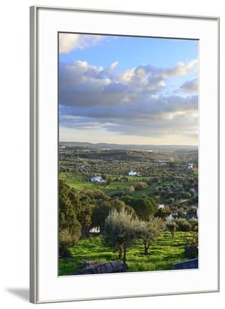 Farms in the vast plains of Alentejo, Portugal-Mauricio Abreu-Framed Photographic Print