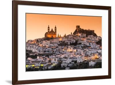 Sunset view of Olvera, Andalusia, Spain-Stefano Politi Markovina-Framed Photographic Print