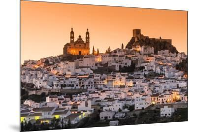 Sunset view of Olvera, Andalusia, Spain-Stefano Politi Markovina-Mounted Photographic Print