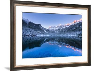 Tovel lake  Europe, Italy, Trentino Alto Adige, Trento district, Tovel valley, Non valley, Tuenno c-ClickAlps-Framed Photographic Print