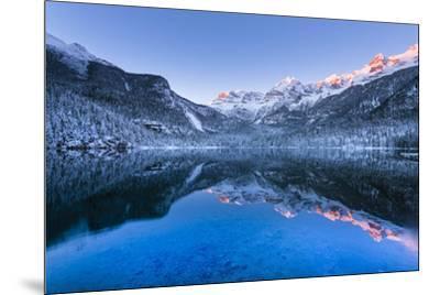 Tovel lake  Europe, Italy, Trentino Alto Adige, Trento district, Tovel valley, Non valley, Tuenno c-ClickAlps-Mounted Photographic Print