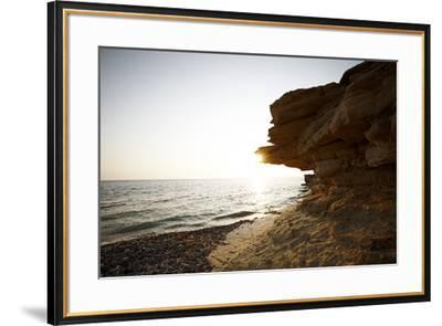 Sundown on the stone beach island Kos, Greece,-Rasmus Kaessmann-Framed Photographic Print