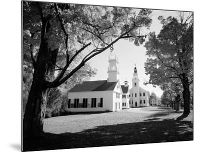 1960s Church and Local Buildings in the Town Square of Washington New Hampshire--Mounted Photographic Print