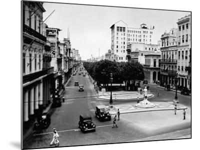 1930s-1940s Street Scene of the Prado Havana Cuba--Mounted Photographic Print