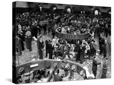 1940s Trading in Progress on Floor of New York Stock Exchange NYC--Stretched Canvas Print