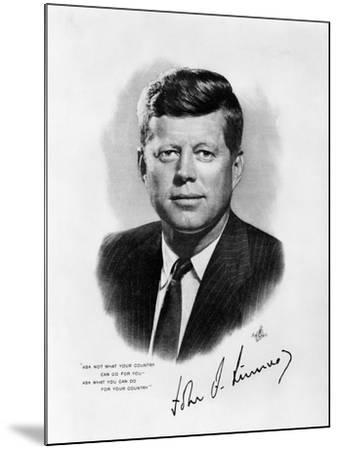 Official White House Portrait John Fitzgerald Kennedy 35th American President--Mounted Photographic Print