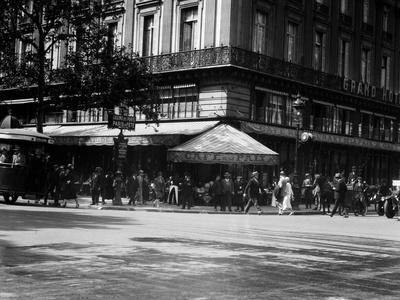 1920s Cafe De La Paix in the Grand Hotel Paris, France--Framed Photographic Print