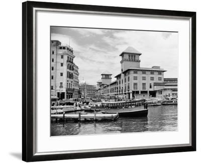 1930s-1940s Passenger Ferry at Waterfront Dock Havana Cuba--Framed Photographic Print