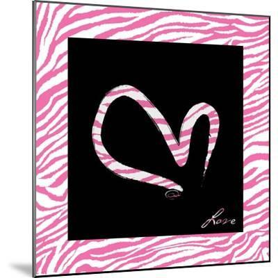 Love Hot Pink-OnRei-Mounted Art Print