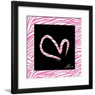 Love Hot Pink-OnRei-Framed Art Print