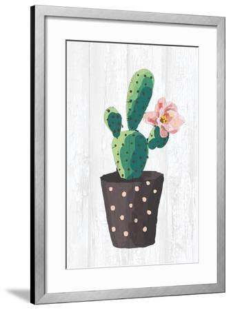 Cactus Panel 1-Kimberly Allen-Framed Art Print