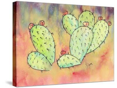 Prickly Pear Cactus-Beverly Dyer-Stretched Canvas Print