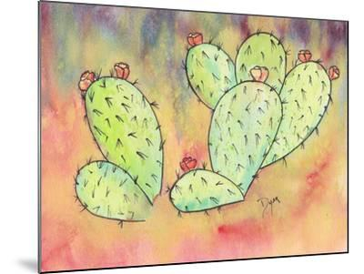 Prickly Pear Cactus-Beverly Dyer-Mounted Art Print