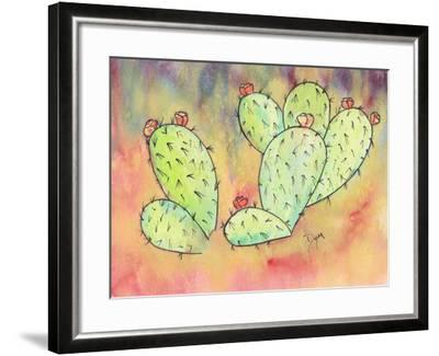 Prickly Pear Cactus-Beverly Dyer-Framed Art Print