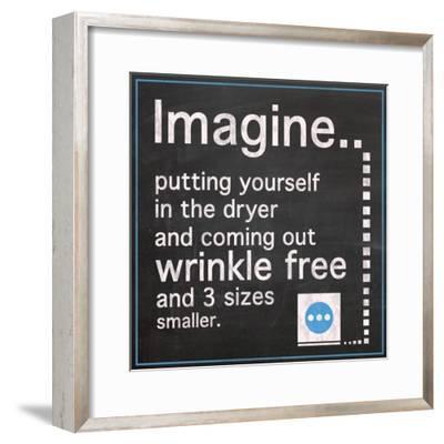 Imagine The Dryer-Lauren Gibbons-Framed Art Print