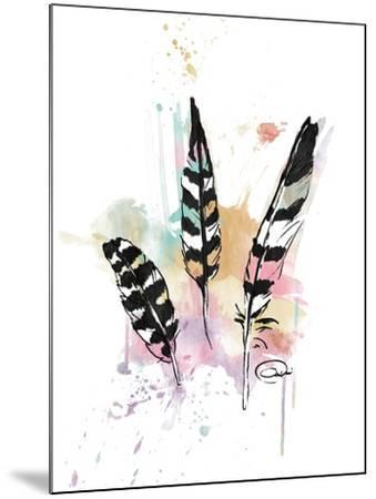Calm Three Feathers-OnRei-Mounted Art Print