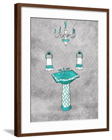 Teal Chip Mate Borderless-Jace Grey-Framed Art Print