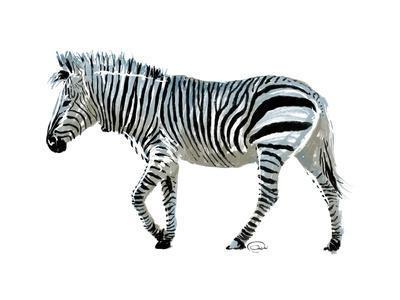 Zebra Blues-OnRei-Framed Art Print