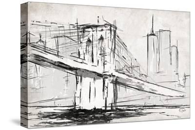 Brooklyn Sketch-OnRei-Stretched Canvas Print