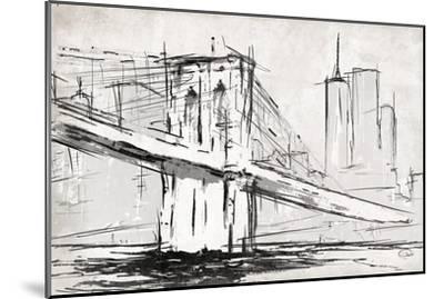 Brooklyn Sketch-OnRei-Mounted Art Print