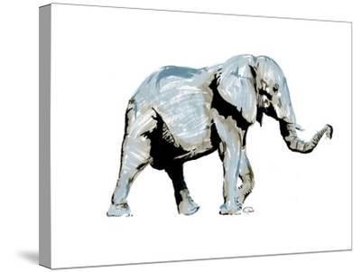 Elephant Blues-OnRei-Stretched Canvas Print