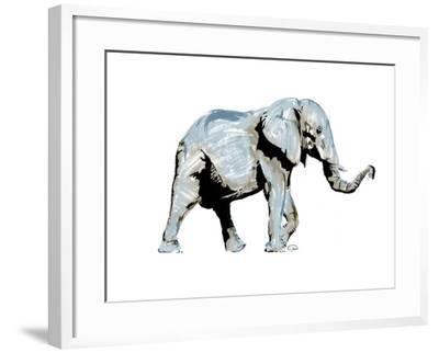 Elephant Blues-OnRei-Framed Art Print