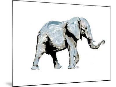 Elephant Blues-OnRei-Mounted Art Print