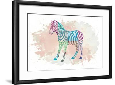 Zebra-Victoria Brown-Framed Art Print