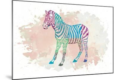 Zebra-Victoria Brown-Mounted Art Print