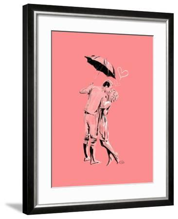 Romantic Love Pink-OnRei-Framed Art Print